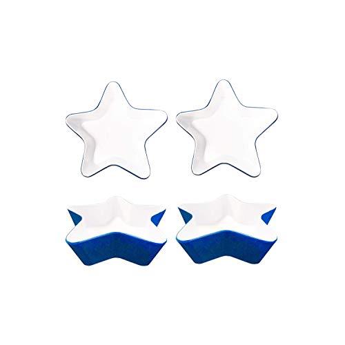 (Patriotic Star Dip Bowl Set ~ 4-Pc Durable Melamine 4th of July Dip Bowls (July 4th Party Supplies))