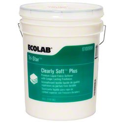 ECOLAB Tri-Star Clearly Soft Plus Premium Liquid Fabric Softener- 5 gallon by Ecolab