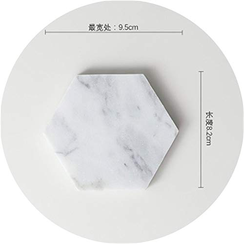 Creative Luxury Marble Ceramic Coaster Drink Coffee Cup Mat Tea Pad Dining Table Placemats Table Black White Decoration 1PCS,2