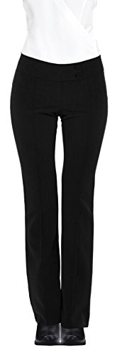 Womens Fitted Business Bootcut Trousers