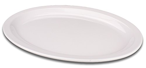 Oval Melamine Serving Platter Tray 15.5