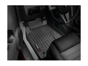 WeatherTech Custom Fit Front FloorLiner for Ford Mustang (Black) (Mustang Weathertech compare prices)