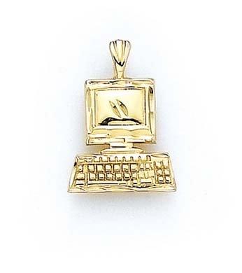 Vernis 14 Carats Pendentif JewelryWeb ordinateur
