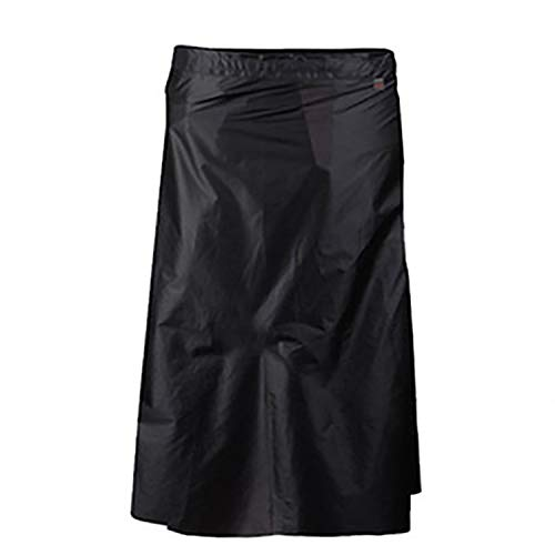 3F UL Gear Rain Skirt, Waterproof Lightweight Rain Pants Breathable Windproof Raincoat Rainwear Liner for Cycling Riding Camping Hiking(Black)