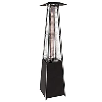 Proweltek Pyramid Gas Heating Parasol 13KW Glass Tube Heater for Patio Complete Gas Connection