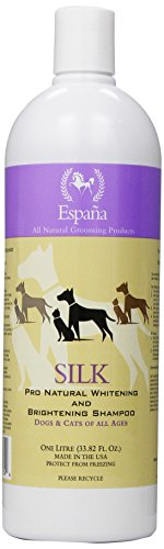 Silk Dog Shampoo - Espana Silk ESP0320DC Specially Formulated Silk Pro Whitening and Brightening Shampoo for Dogs and Cats, 33.82-Ounce