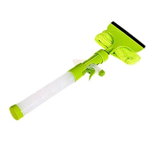 3 in 1 Water Wiper Glass Clean Spray Window Cleaner (Green) - 2
