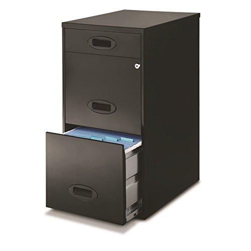 Hirsh Space Solutions 18'' Deep 3 Drawer File Cabinet in Black by Hirsh Industries
