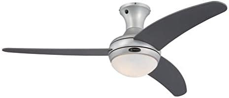 Westinghouse Lighting Celestia II Ventilador de Techo E27, 40 W, Aluminio Satinado