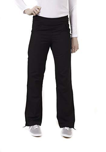 LifeThreads Ergo Women's Modern Fit Ladies Yoga Inspired Pant- Black- ST