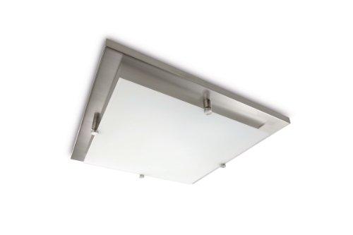 Plafoniere Quadrate Philips : Philips cross lampada quadrata da soffitto lampadina inclusa