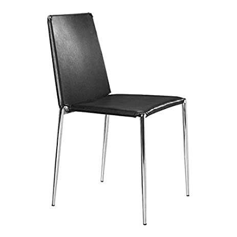 zuo modern alex dining chairs set of 4 black - Dining Chairs Set Of 4