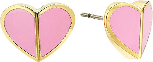 Kate Spade New York Women's Heritage Spade Small Heart Studs Earrings Rococo Pink One Size