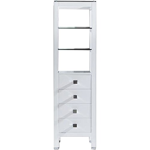 Virtu Usa Mdc 489 Wh Cailey 16  Linen Cabinet  White