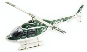 2003 New York Jets Bell Jet Diecast Helicopter Limited Edition by Fleer