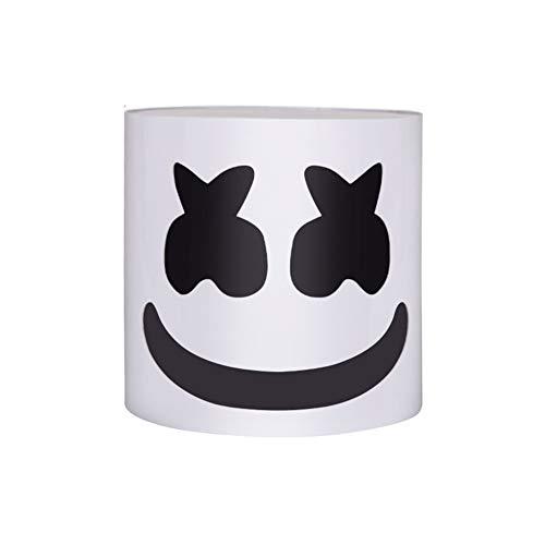 TTXST DJ Marshmallow Helmet Mask,Music Festival Bar Essential Lights Props,DJ Music Festival Mask Helmet Party Novelty Costume Helmet Mask - Hard Plastic Mask