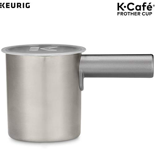Keurig K-Cafe Milk Frother, Works with all Dairy and Non-Dairy Milk, Hot and Cold Frothing, Compatible with Keurig K-Café Coffee Makers Only, Nickel