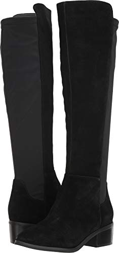 Blondo Women's GALLO Waterproof Fashion Boot, Black Suede, 10 M US