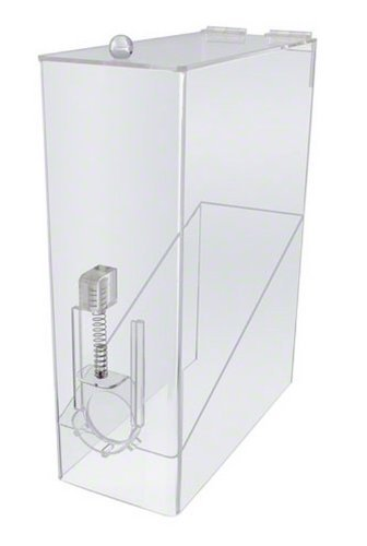Update International (CBD-AC) 9 Lb Single Whole Bean Coffee Dispenser,silver