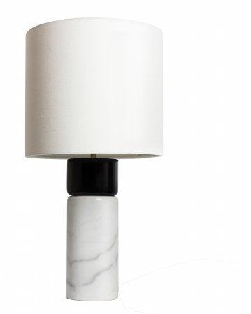 Carrara Lamp - Luxeria L2 LUX1266 Chandeliers Carrara Table LAMP, Modern, White Marble & Black Wood