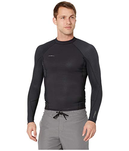 O'Neill Men's Hyperfreak 1.5mm Long Sleeve Top, Black/Black, -