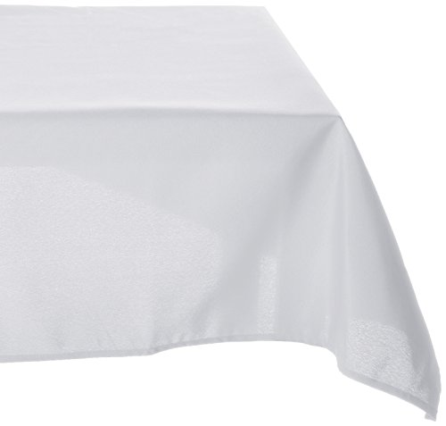 Square Polyester Tablecloth (LinenTablecloth 85-Inch Square Polyester Tablecloth White)
