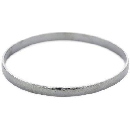 Alpaca Silver Bracelet Hammered Five Set Bands Hand Made Artisan Omega ()