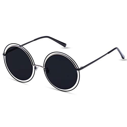 Des Version la Mode de personnalité Sport Lunettes soleil de coréenne Couleur rétro Soleil lunettes Femme C Hipster Rondes de B ggBxr