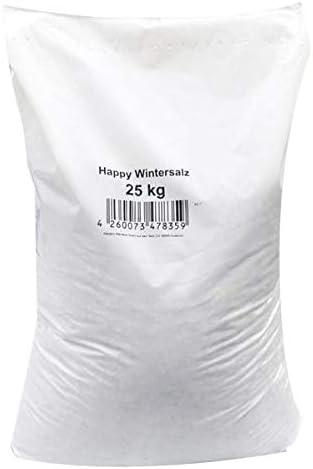 Streusalz Hamann Mercatus GmbH Happy-Wintersalz Auftausalz Splitt-Salzgemisch 25 kg Quarzedelsplittgemischt mit Deutschen Steinsalz