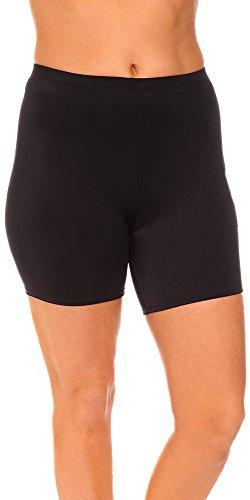 Aquabelle Women's Plus Size Chlorine Resistant Xtra Life Lycra Bike Short 22 - Shorts Resistant Chlorine