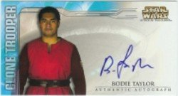 Taylor Clone - Star Wars Attack of the Clones Clone Trooper Bodie Taylor Autograph Card