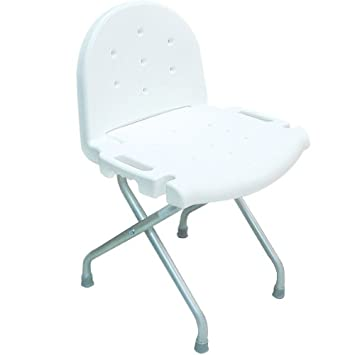 INV9981EA   Folding Shower Chair With Back, 29