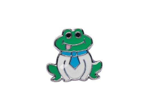 """La Loria Charm - Abalorio de mujer o pequeña """" Frog """" Rana - elemento para pulseras o cordones"""