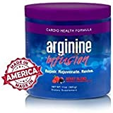 Arginine Infusion Natural Formula for Cardio Health 6 Jars 5000mg L-arginine, 1000mg L-citrulline, 50mg CoQ10, & 50 mg AstraGin Per Serving
