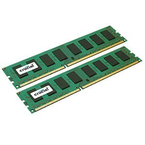 Crucial 4GB Kit (2GBx2) DDR3L 1600 MT/s (PC3L-12800)  Unbuffered UDIMM  Memory CT2K25664BD160B ()