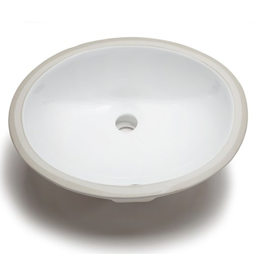 Hahn Ceramic VC012 Small Oval Ceramic Bathroom Sink, White