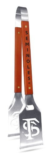 NCAA Florida State Seminoles Grill-A-Tongs, Heavy Duty Stainless Steel BBQ Grill Tongs by SPORTULA PRODUCTS