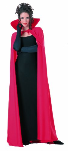 Rubie's Costume Co Mens 60 Inch Taffeta Cape, Red, One Size (Red Halloween Cape)