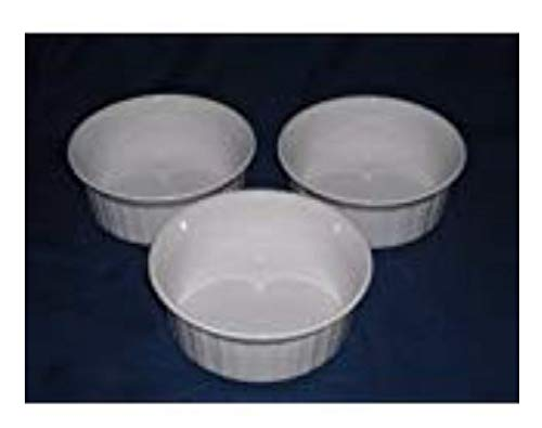 (Corning Ware French White Round Casserole Dish 500ml - Set of 3)