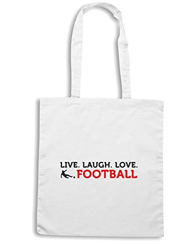LAUGH Shopper WC0456 FOOTBALL Bianca Borsa LIVE LOVE xZqISw77H