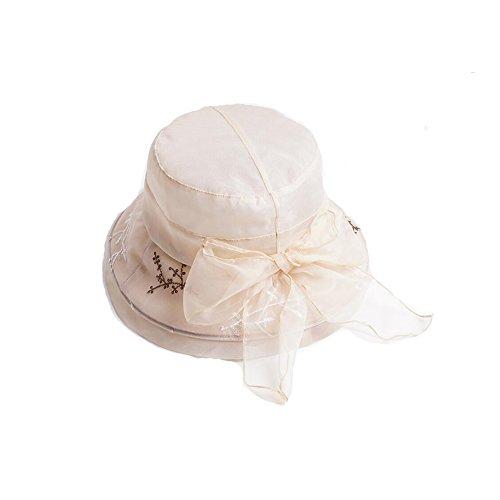 Elegante El Sombrero 61 Gorro Pescador Sol Y Protección Solar Beige Gris Hermoso Playa color Ly De Paja Visera Dall Verano Sombreros qP1x8OPt