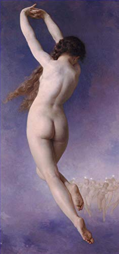 ($50-$2000 Handmade Oil Painting by College Teachers - Letoile Perdue William Adolphe Bouguereau Nude Classic NCC3 Canvas Art for Home Wall Decoration -Size 03)