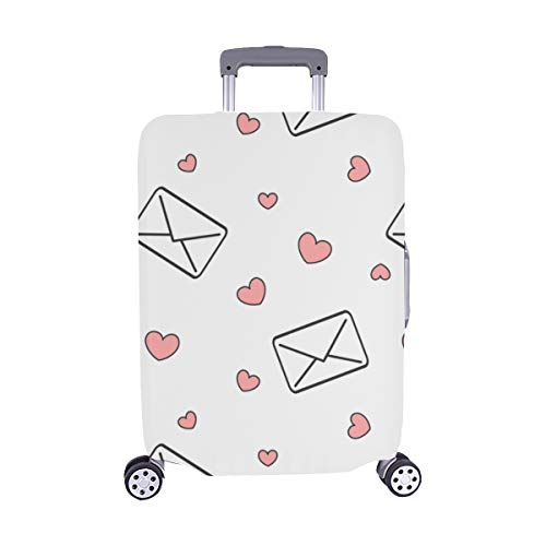 Envelope And Love Letter Paper Spandex Trolley Case Travel Luggage Protector Suitcase Cover 28.5 X 20.5 Inch(only Dust Cover)
