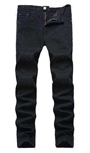 NITAGUT Men's Skinny Slim Fit Stretch Straight Leg Fashion Jeans Pants (US 31, 01Black)