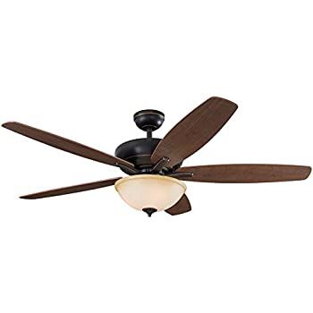 Harbor Breeze Crosswinds 52 In Oil Rubbed Bronze Indoor Downrod Or Close Mount Ceiling Fan With
