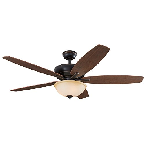 Harbor Breeze Aberly Cove 60-in Bronze Indoor Ceiling Fan with Light Kit and Remote 40842