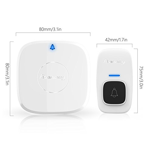 Wireless Doorbell,Rtaneey IP44 Waterproof Door Chime Kit Operating at Over 1476 ft with 2 Plug-In Receivers,30 Melodies,4 Level Volume,LED Indicators,Easy Set Up for Home and Office by Rtaneey (Image #4)