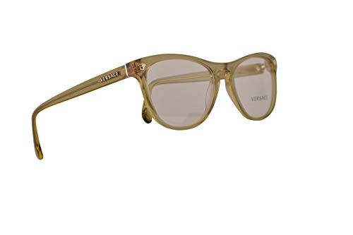 Versace VE3260 Eyeglasses 53-17-140 Transparent Brown w/Demo Clear Lens 5271 VE ()