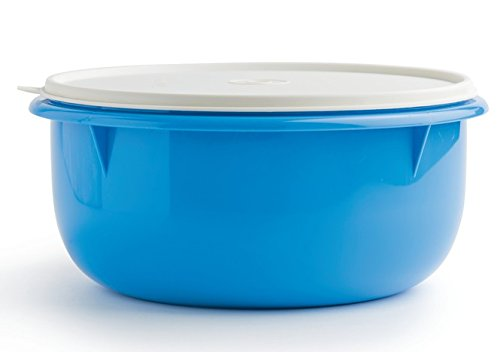 Tupperware Classic Large 12-cup Mixing Bowl - Blue with White Cover by Tupperware (Image #3)