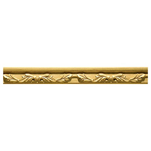 3''W x 1 1/4''P, 12'' Repeat, Molding Oak Leaf, 8' Length, Maple by Enkeboll Designs
